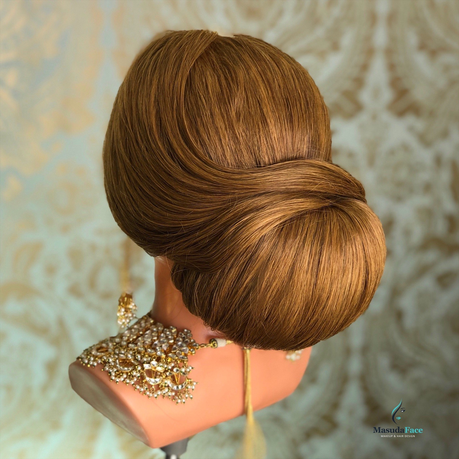 South Asian Bridal Hair Bun